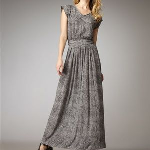 Rebecca Taylor grey snake skin print maxi dress